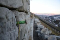 Bau der Trockensteinmauer
